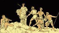 Antígona enterrando a su hermano Polinices