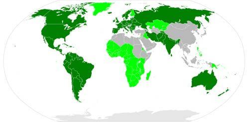 Mapa con países donde se habla una lengua indoeuropea