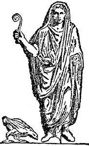 Auspex romano vigilando los pájaros a diestra y siniestra