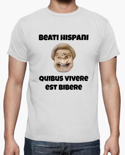 Camiseta clara - Beati Hispani, quibus vivere est bibere