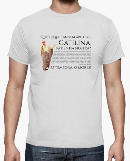 Camiseta clara - Quo usque tandem abutere, Catilina, patientia nostra?