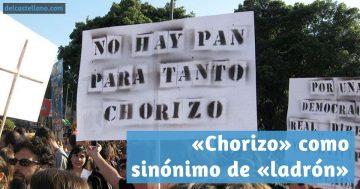 Etimología de la palabra «chorizo» como sinónimo de «ladrón»