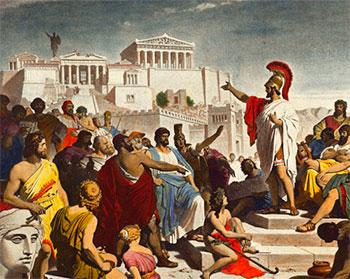 Pericles dirigiéndose a Atenas