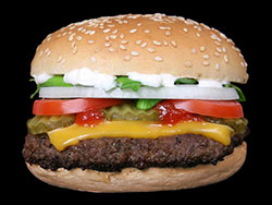 Ejemplo clásico de reanálisis: la cheeseburger