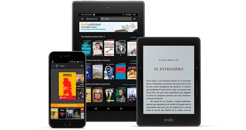 Leer los ebooks de Amazon en tu teléfono, tablet o Kindle con Kindle Unlimited