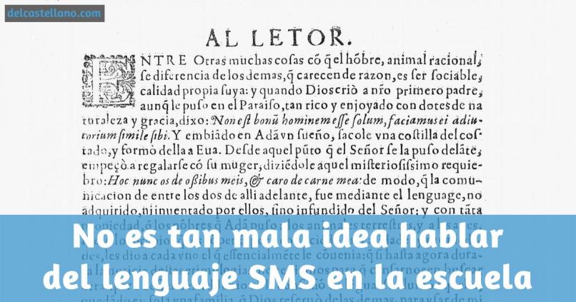 ¿Deberíamos enseñar lenguaje SMS en la escuela?