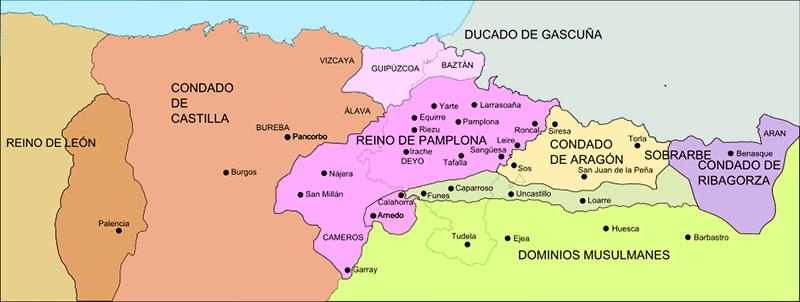 Reino de Pamplona hacia 1035