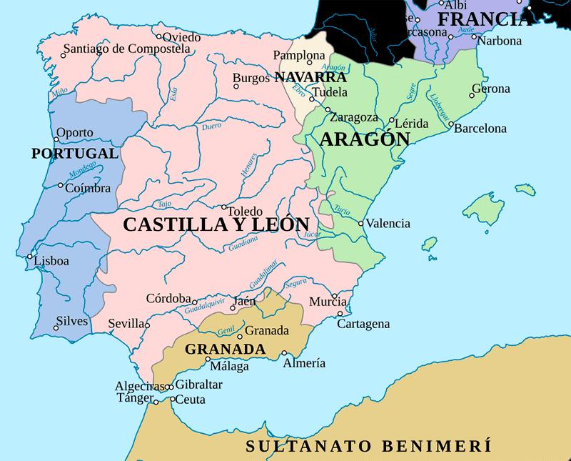 La península ibérica hacia el año 1360