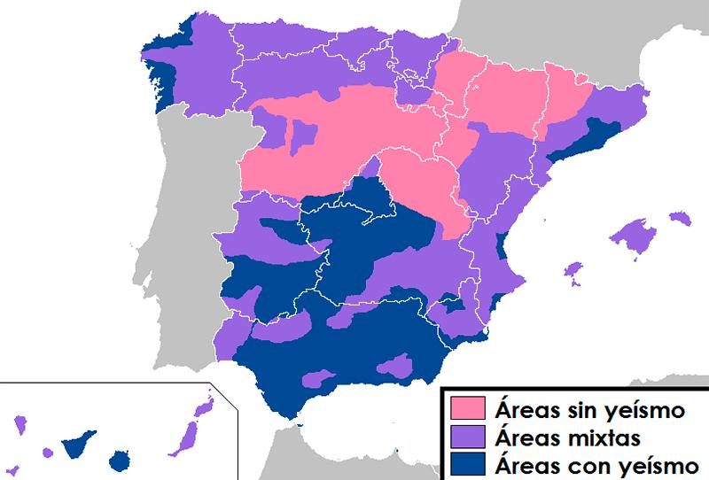 Mapa del yeísmo en España
